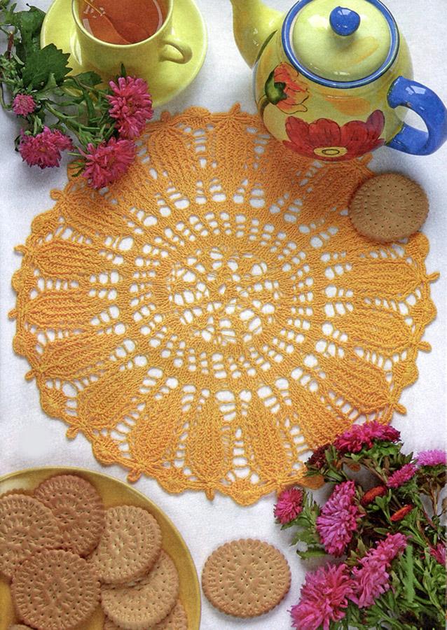 Платье вязанное на спицах-схема вязанного платья