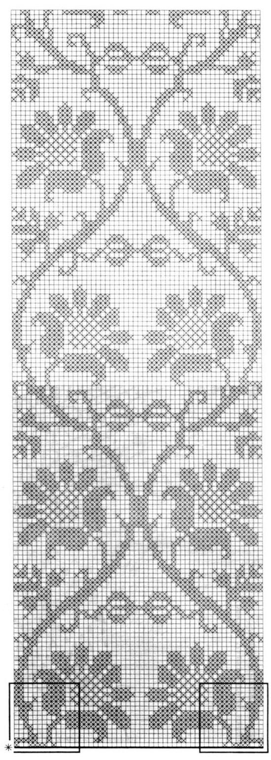 Фото схем филейного вязания 423