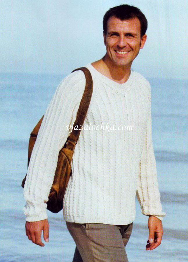 схема мужского свитера английской резинкой