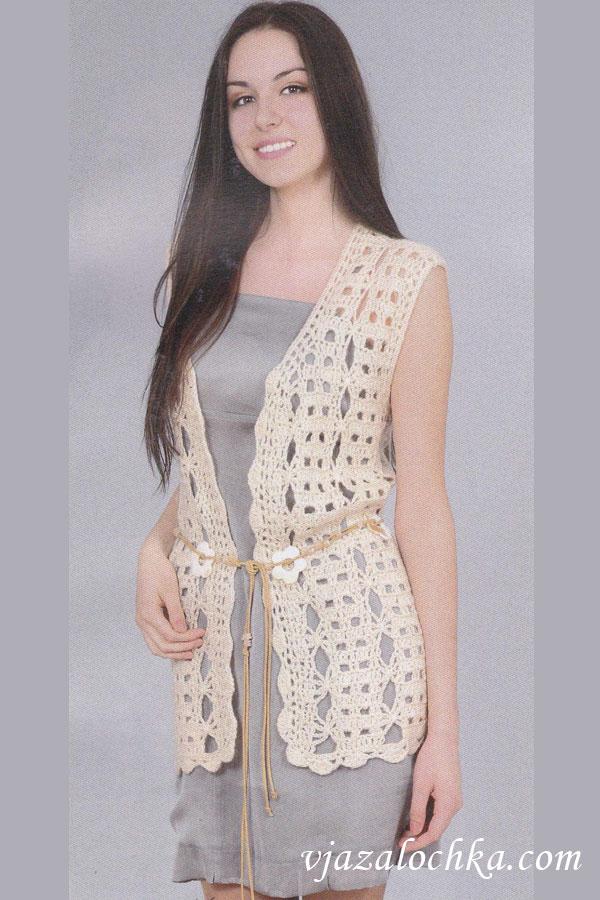 вязание спицами для женщин жилет