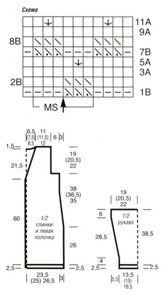 Кардиганы лало соты схема вязания 11