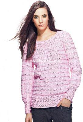 Пуловер из пряжи с пайетками