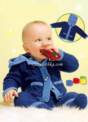 Вязание для новорожденных. Жакет