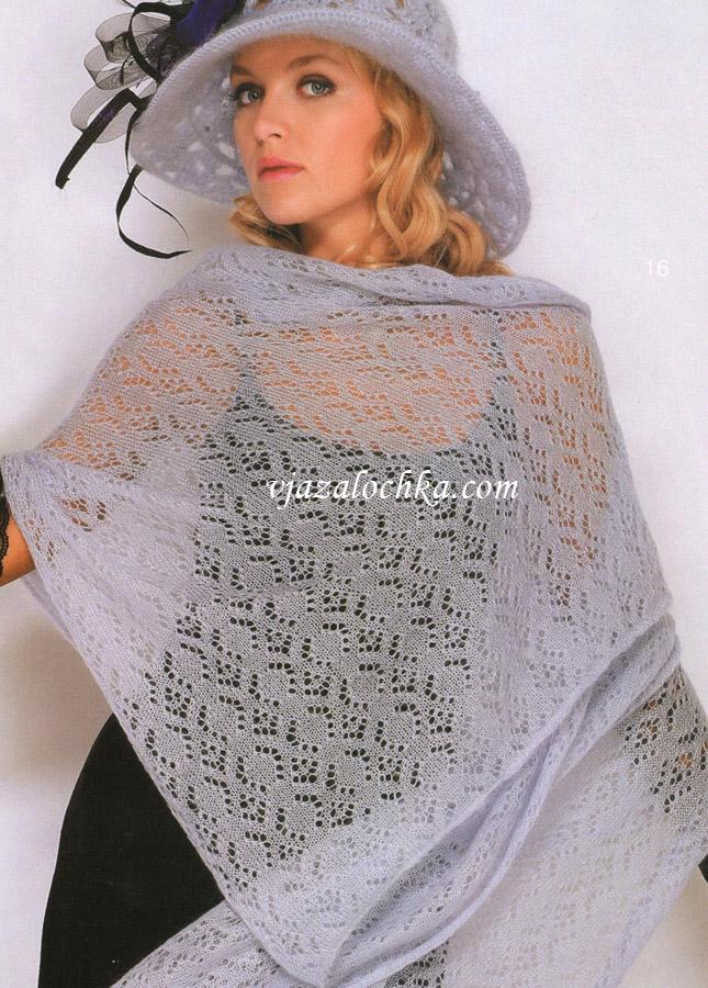 подробное описание вязания юбки из кид мохера